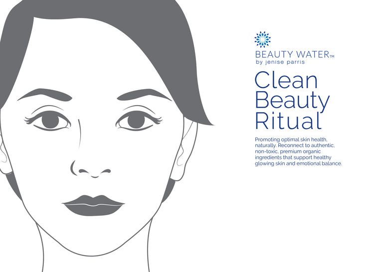 Clean Beauty Ritual Collection- The Beauty Water Beauty Bag