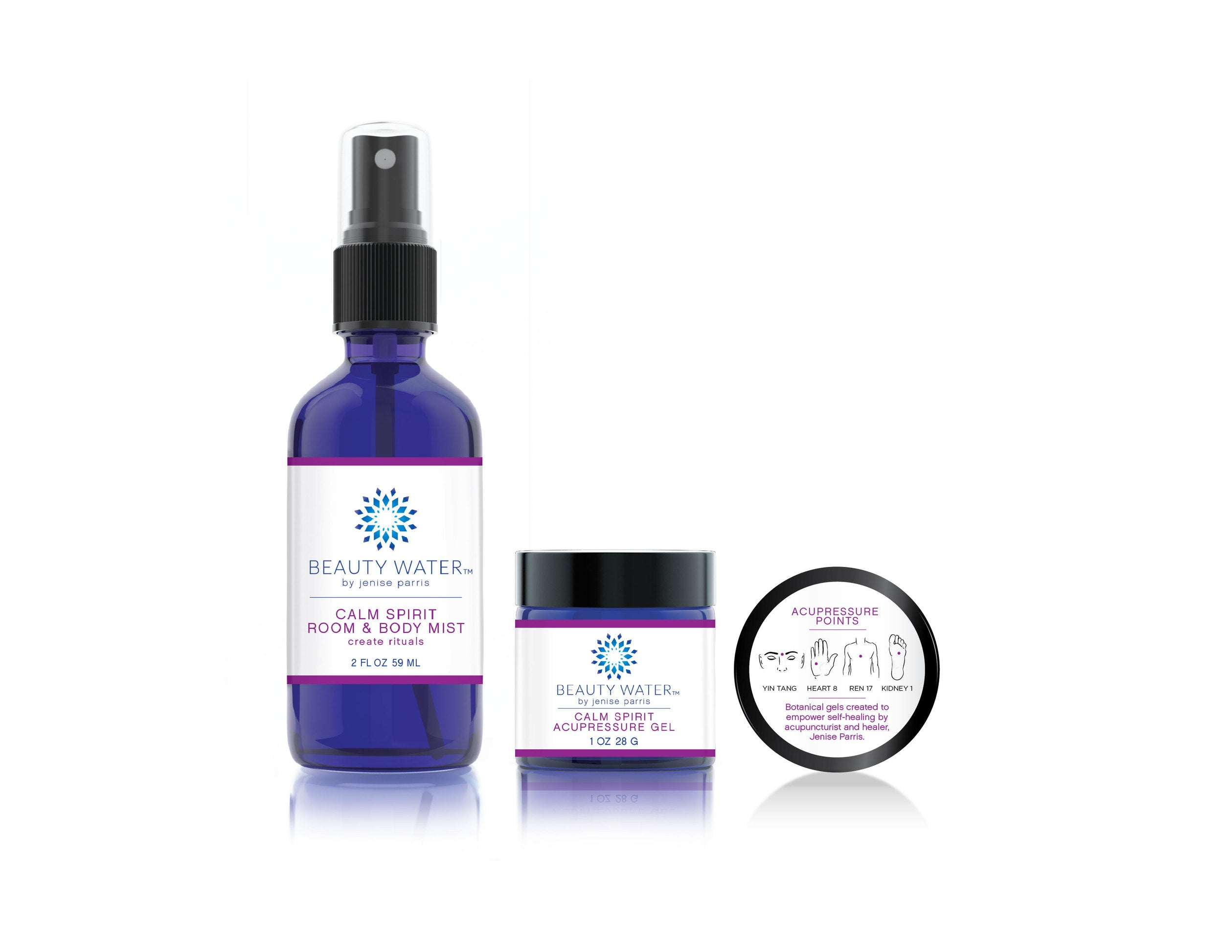 Calm Spirit Body Mist and Acupressure Gel Set
