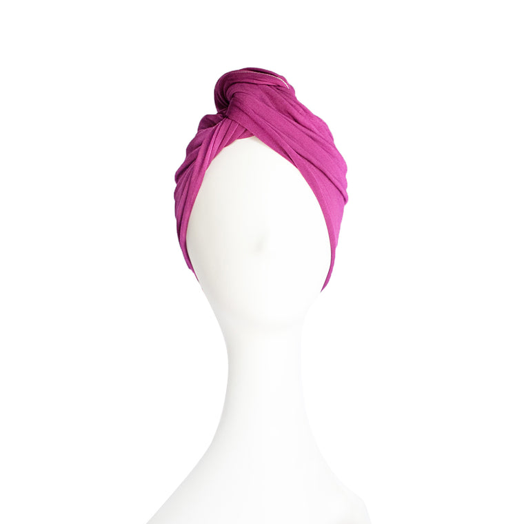Plum Hair Wrap