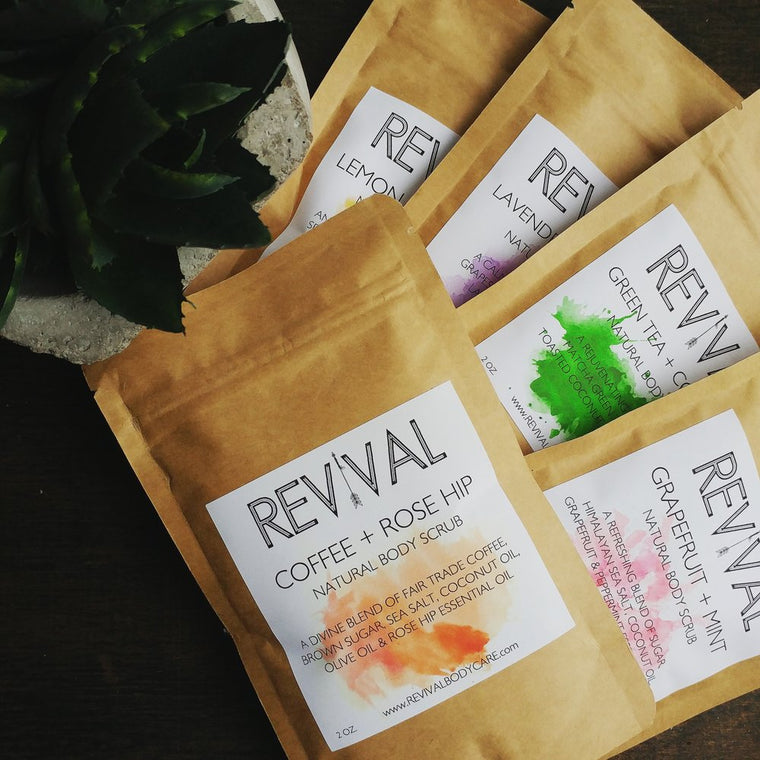 REVIVAL BODY SCRUB SAMPLER SET