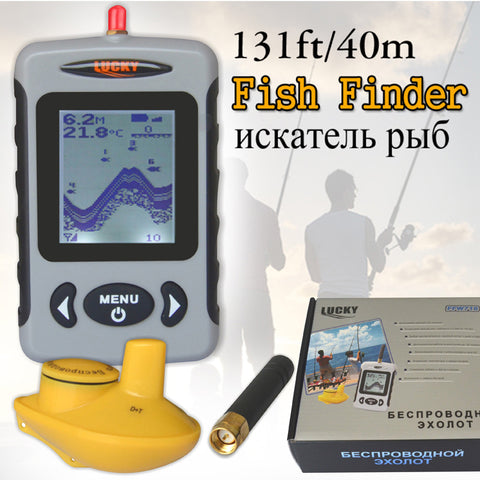 Depth Sonar Fish Finder- Wireless - Sonar Alarm Fishfinder