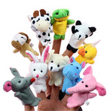 10pcs/set - Cartoon Animal Finger Puppet