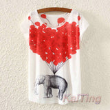 T Shirt- Women  Animal  Print-21 variant