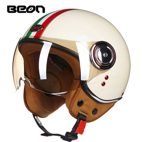 Scooter Open Face Helmet -Vintage