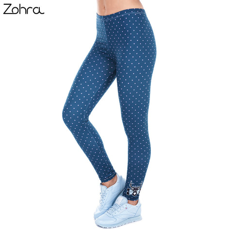 Freeride Deer Dots Legging - Elastic Silm Fit-5 colors