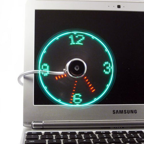 USB Clock Fan Desktop-