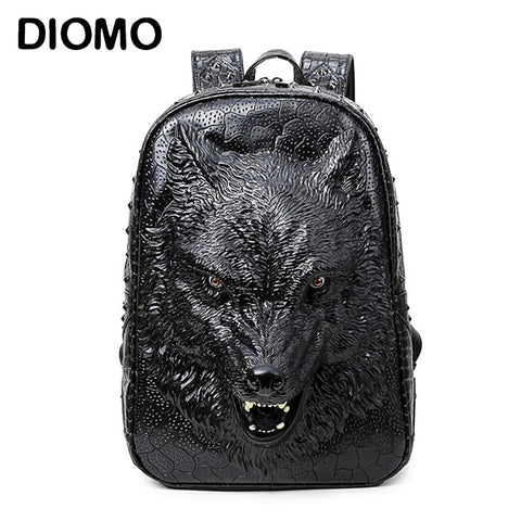 3D WOLF HEAD  Backpack