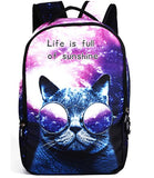 3D Cat School Backpack Bag- For Girls