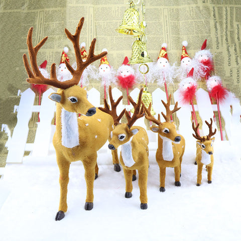 Xmas Elk Plush  Ornaments -1pc