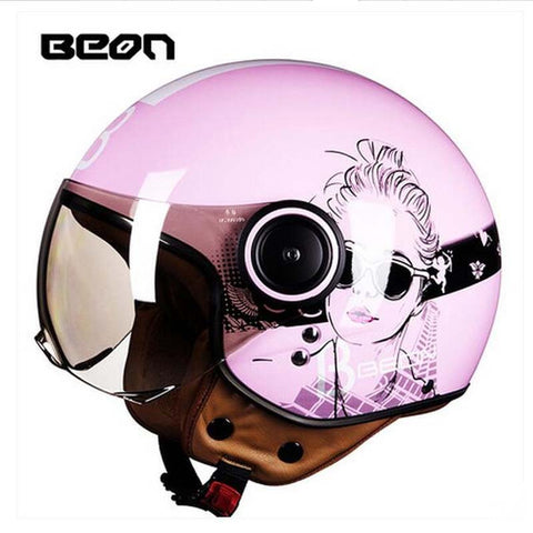 BEON retro motorcycle helmet  -For Women