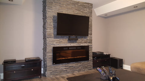 Stone Face TV and Bose Mounting