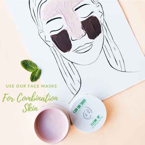 FACEMASKS FOR COMBINATION SKIN