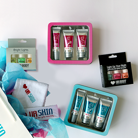 Gift Packs collection with Body and Face Range Trio Packs along with Nail Polish Gift Packs and multiple accessories.