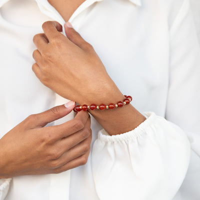 Carnelian Bracelet | Stone Jewelry | Fashion Jewelry
