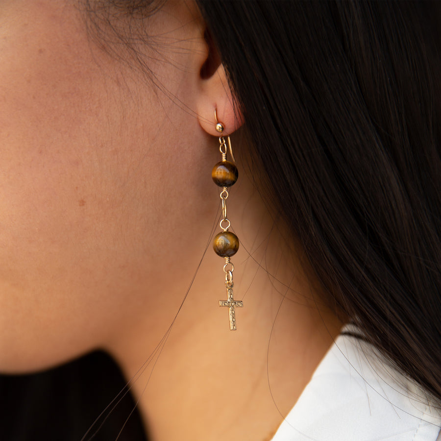 Cross Ferox Earrings | Stone Jewelry | Fashion Jewelry