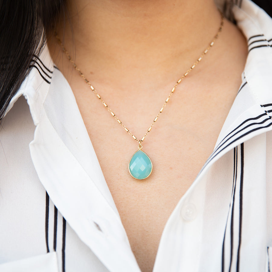 Chalcedony necklace | Stone Jewelry | Women Fashion