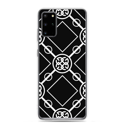 White-On-Black Signature Collection Samsung Phone Case
