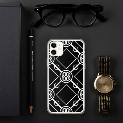 White-On-Black Signature Collection iPhone Case