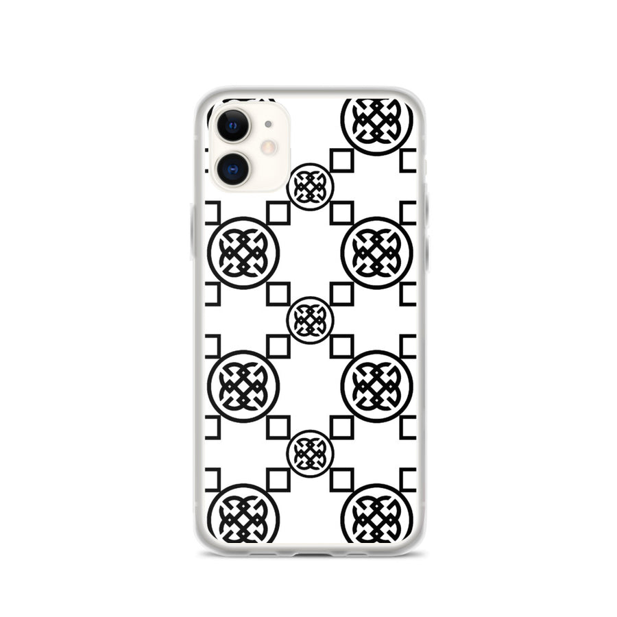 Geometrics Black-On-White iPhone Case | iPhone case
