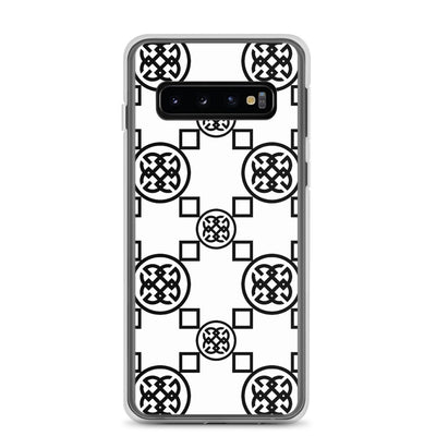 Geometrics Black-On-White Samsung Phone Case | Phone cases