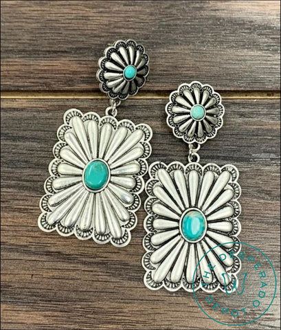 Dottie Big Concho Earrings Earrings