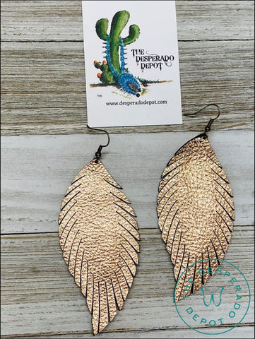 Dreamy Feather Earrings- Rose Gold Earrings
