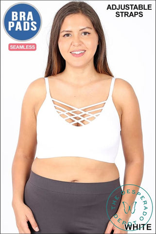 Plus Size Criss Cross Bralettes - Multiple Colors
