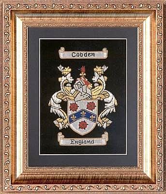 Coat of Arms or Family Crest Embroidered