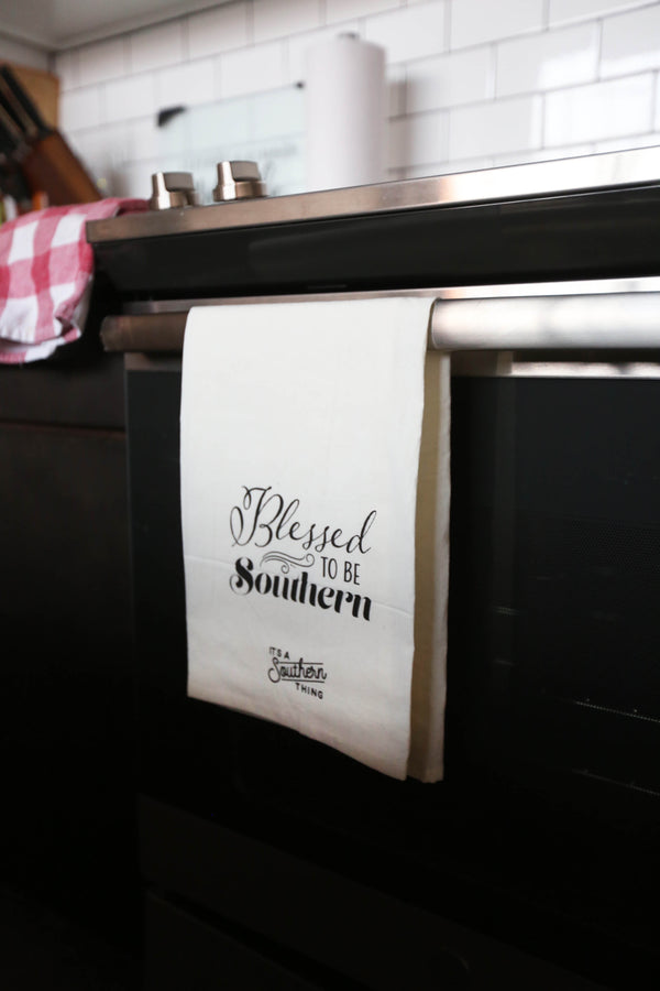 Blessed to be Southern Tea Towel