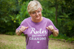 Rules Don't Apply to Grandma Short Sleeve Tee - Purple Plum