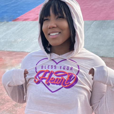 Limited Edition! - Women's Bless Your Heart Crop Hoodie
