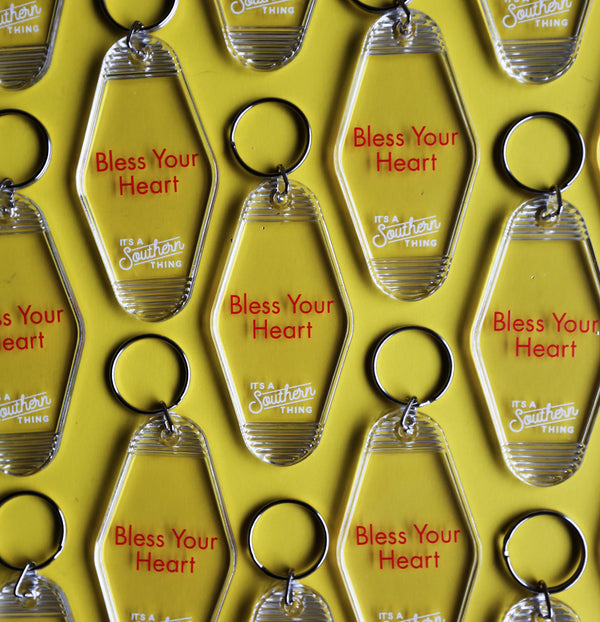 Bless Your Heart Vintage Hotel Key Chain