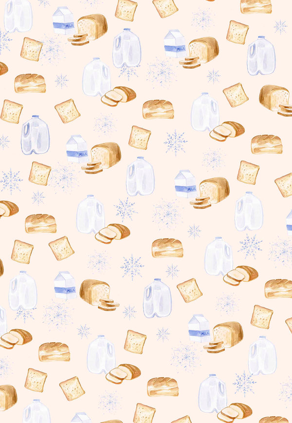 Bread, Milk & Snow Wrapping Paper