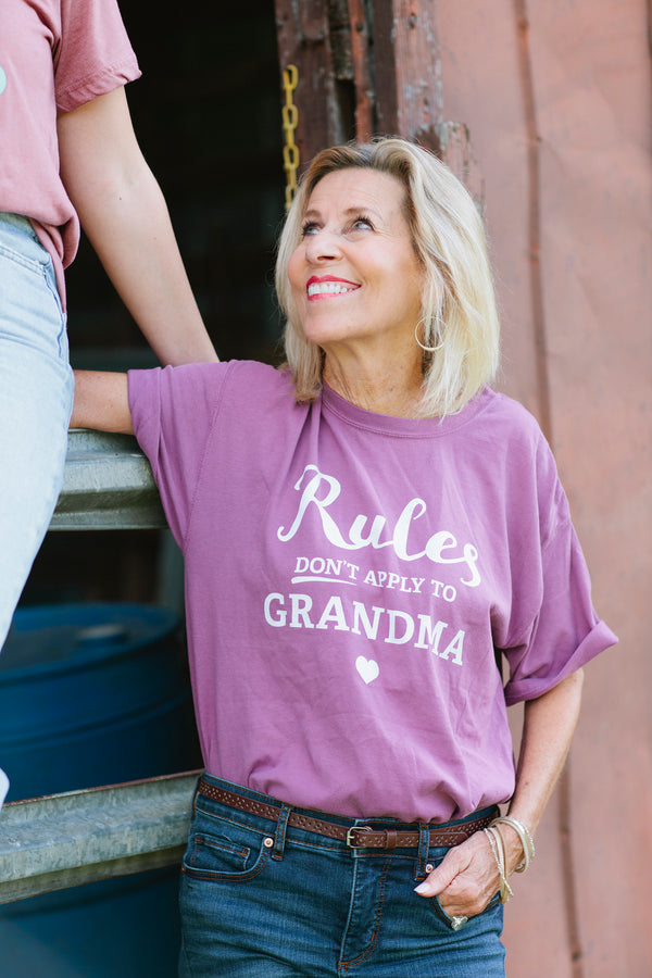 Rules Don't Apply to Grandma Short Sleeve Tee