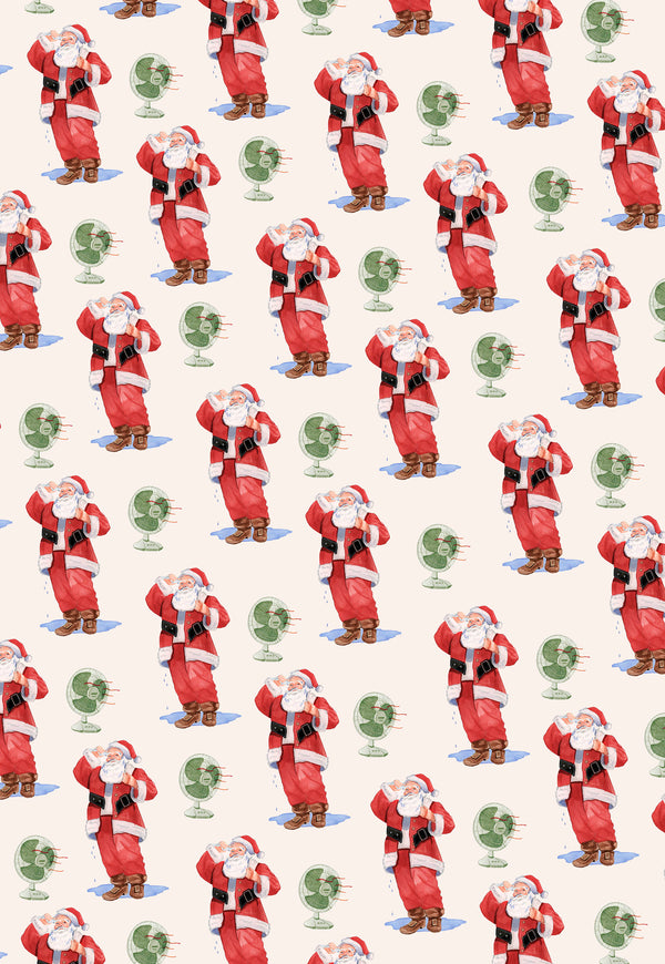 Sweaty Santa Wrapping Paper Set of 3
