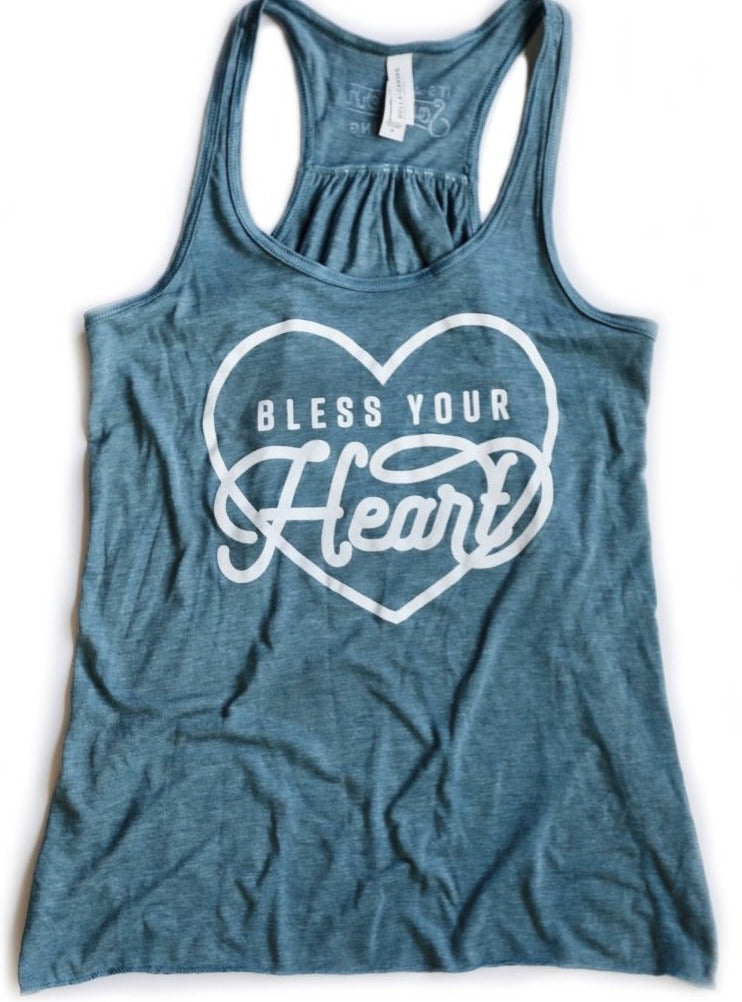 Bless Your Heart Flowy Racerback Tank
