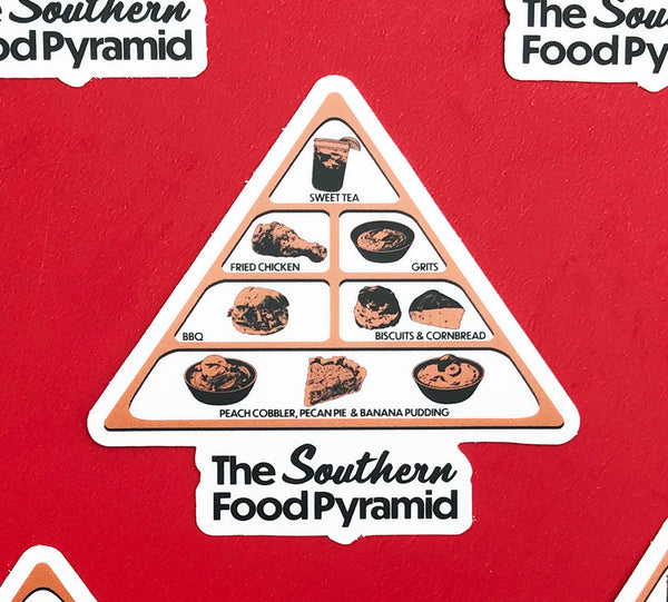 Southern Food Pyramid Sticker