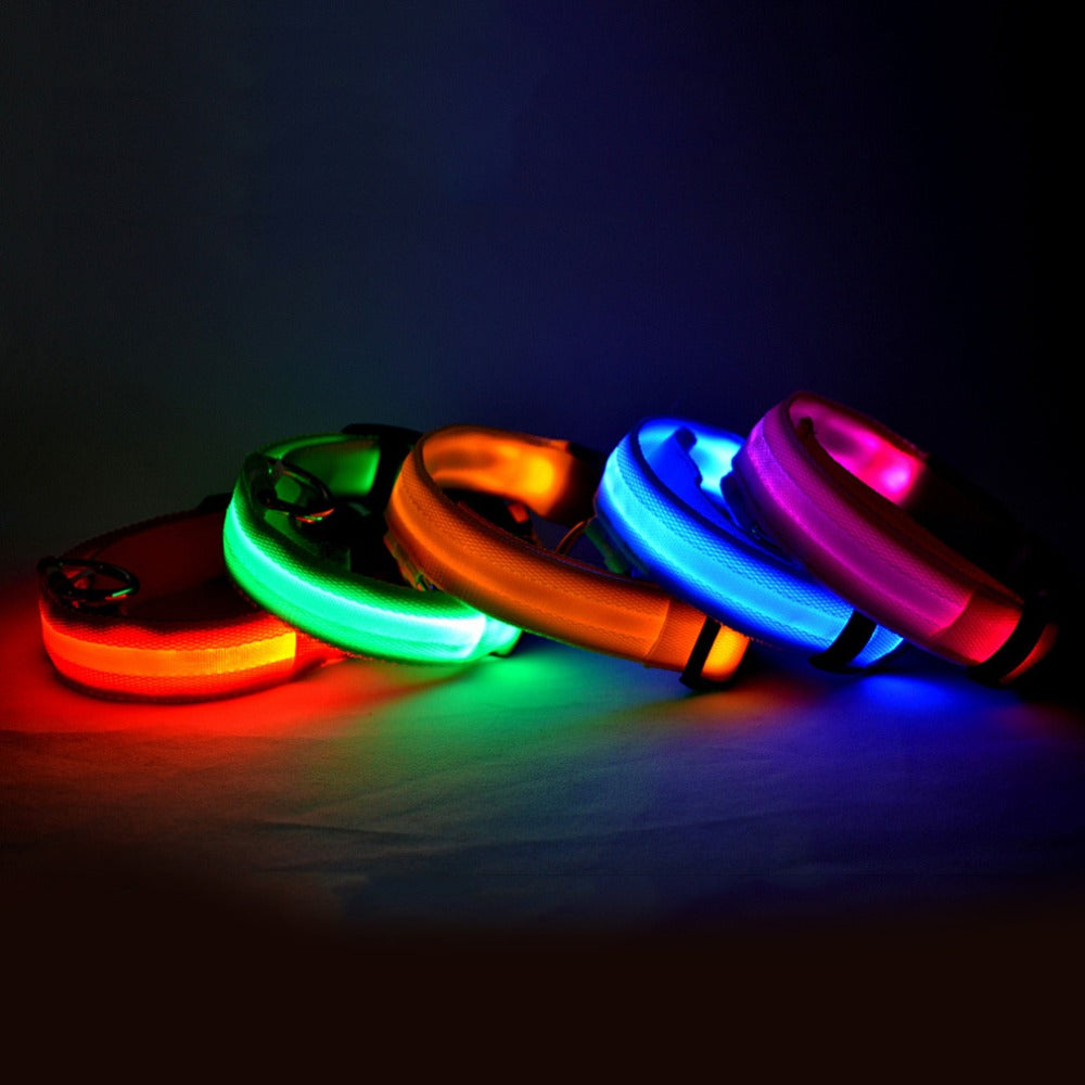 loop collar dog waterproof adjustable usb light safety pet rechargeable necklace carriers up flashing neck yeshold led pp