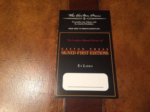 Easton Press (10) Book Plates (SIGNED FIRST EDITION)