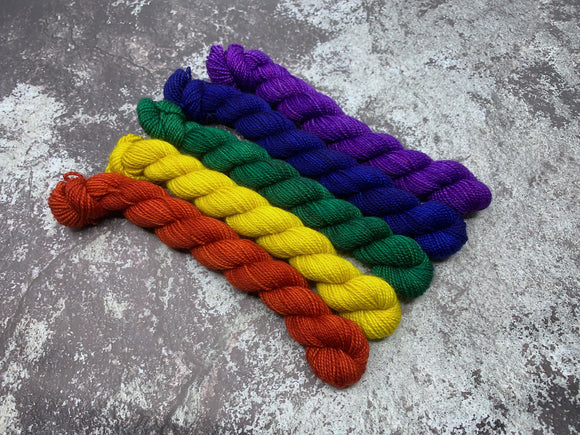 Mini Skein 5 Pack Bundle - Rainbow