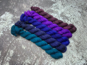 Mini Skein 5 Pack Bundle - Got the Blues (and purples)