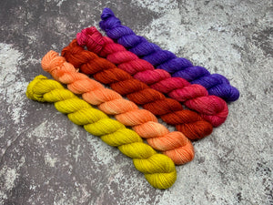 Mini Skein 5 Pack Bundle - Orange You Glad