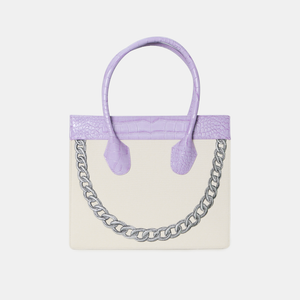 Purple croc Smiley Tote (Pre-order)