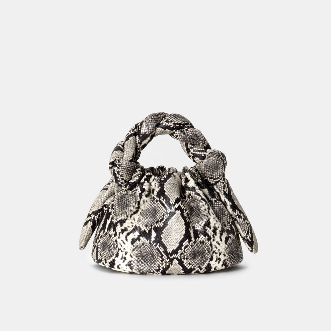 Roccia Snake-effect leather Knotty Bun (Pre-order)