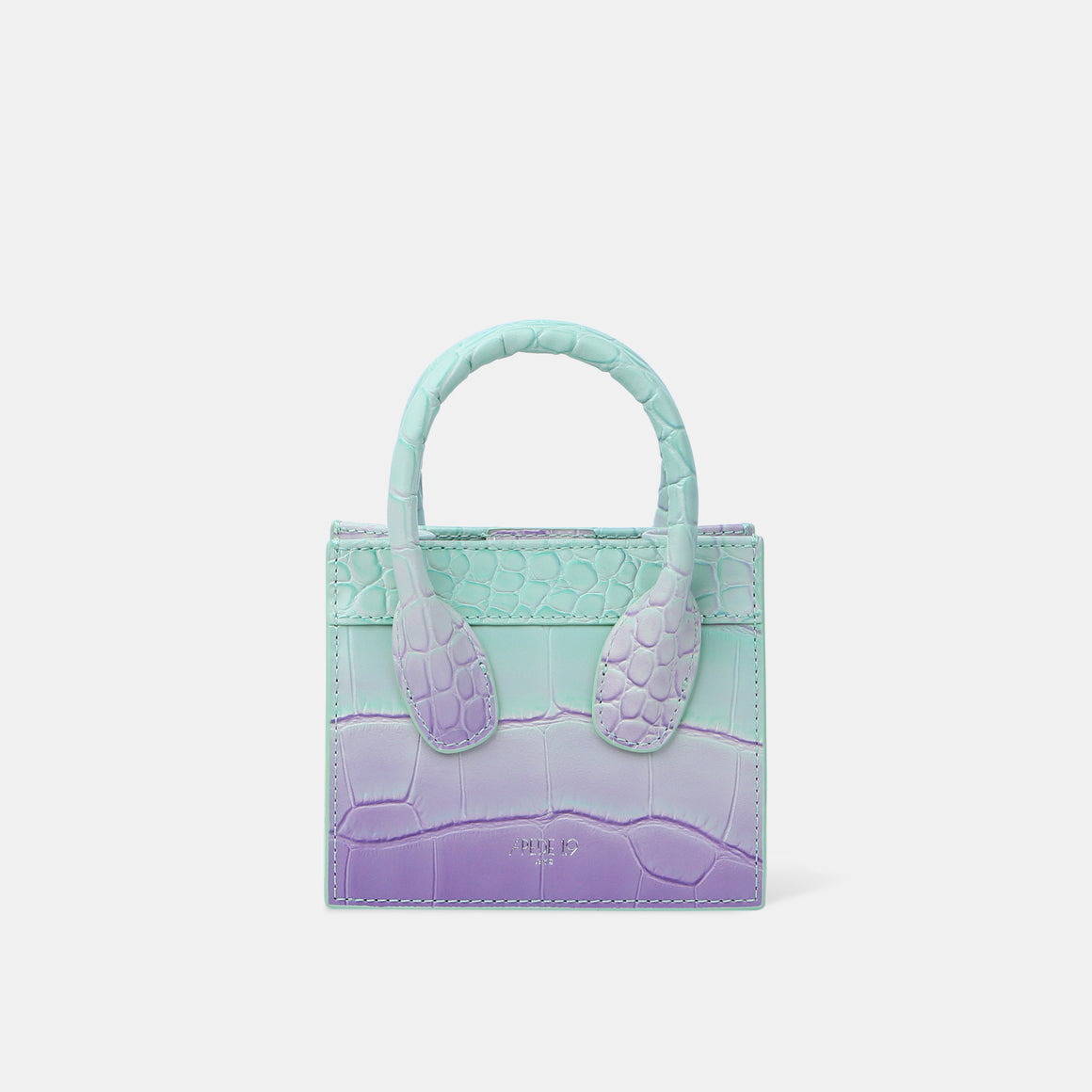 Water-lilies Croc Poker Face Mini Tote (Pre-order)