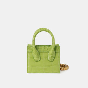 Green Croc Poker Face Mini Tote (Pre-order)