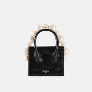 Black Lizard Poker Face Mini Tote (Pre-order)