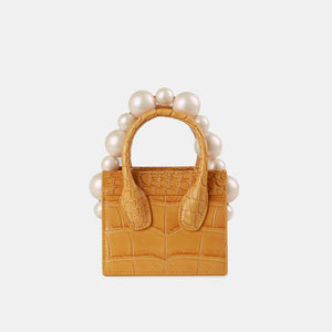 Yellow Croc Poker Face Mini Tote (Pre-order)