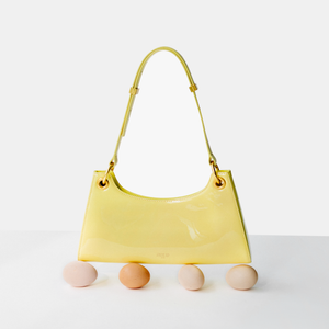 Cream yellow patent leather Froggy (Pre-order)