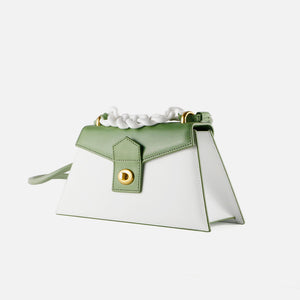 Mint White Medium Le Book with Acrylic Chain